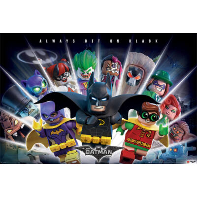 Batman - Lego - Always Bet On Black - poszter