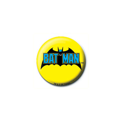 DC COMICS - Batman RETRO LOGO - kitűző