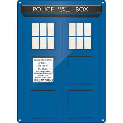 Doctor Who - Tardis - Fémlap
