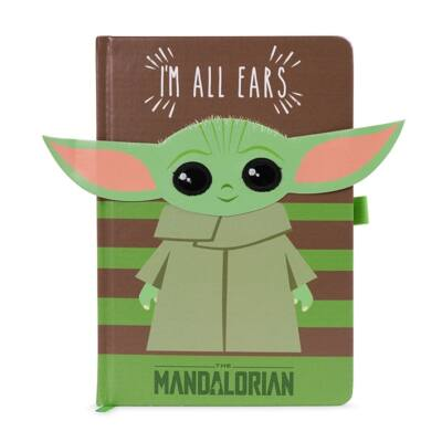 Star Wars Mandalorian Baby Yoda - I'm all ears premium notebook - zöld
