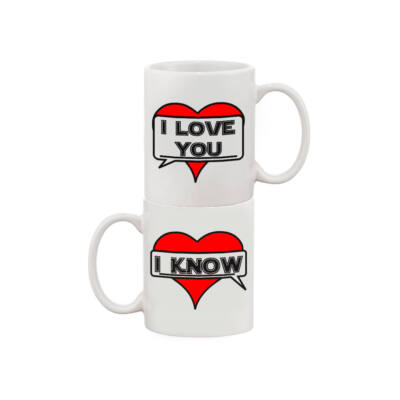 I love you / I know - páros bögre