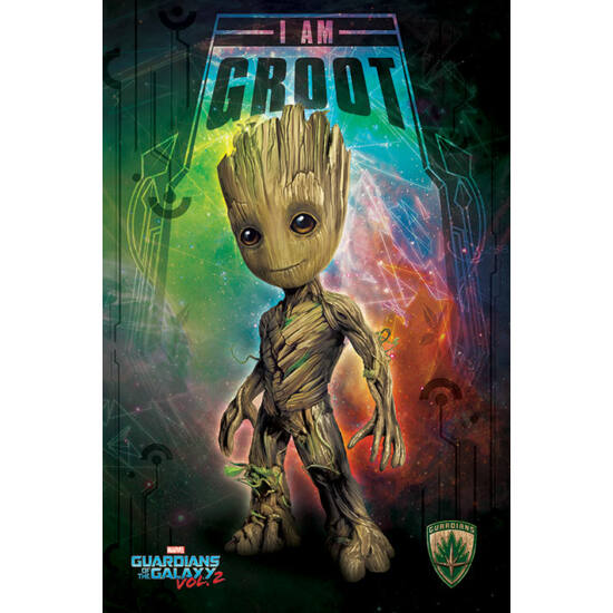 Guardians of the Galaxy Vol.   2 -  I Am Groot - Space- Poszter